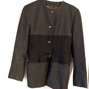 Oliver by Valentino Colorblock Wool Button Blazer